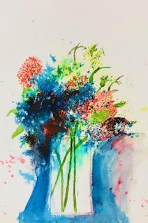 Brusho flowers