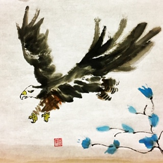 Chinese painting workshop Eagle