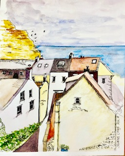 Staithes Village painting