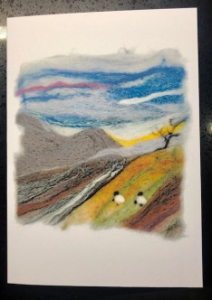 needle felt card